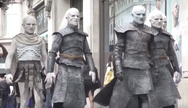 Game of Thrones: Οι White Walkers κατέλαβαν το Λονδίνο