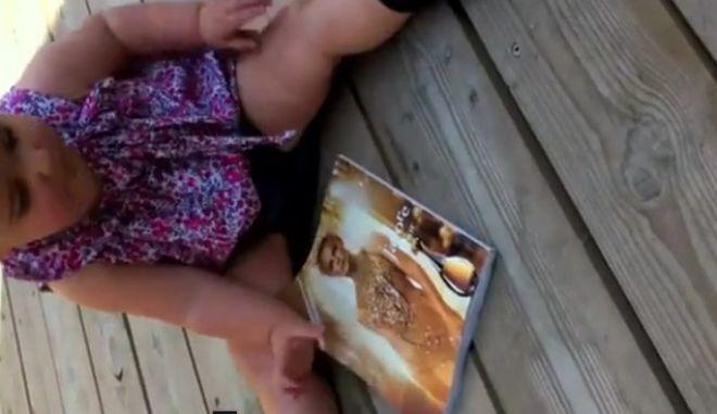 """Το μωρό και το """"χαλασμένο"""" iPad"""