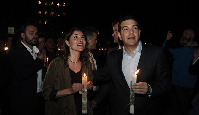 Ανάσταση στον Ιερό Ναό Αγίας Παρασκευής στην Κέρκυρα παρουσία του πρωθυπουργού Αλέξη Τσίπρα το Μεγ. Σάββατο 15 Απριλίου 2017. (EUROKINISSI/ΣΩΤΗΡΗΣ ΔΗΜΗΤΡΟΠΟΥΛΟΣ)