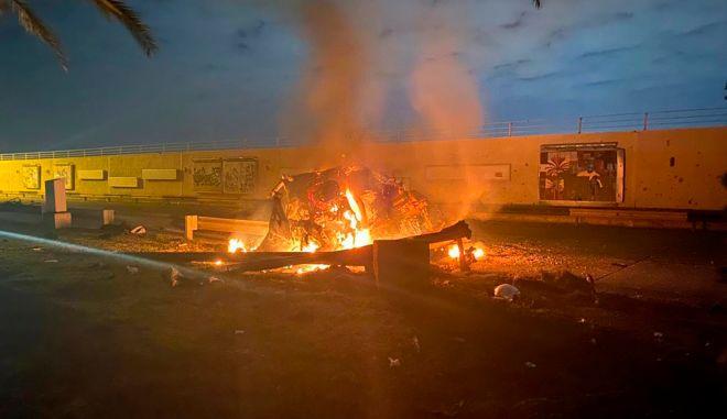 Επίθεση στην οποία σκοτώθηκε ο Qassem Soleimani