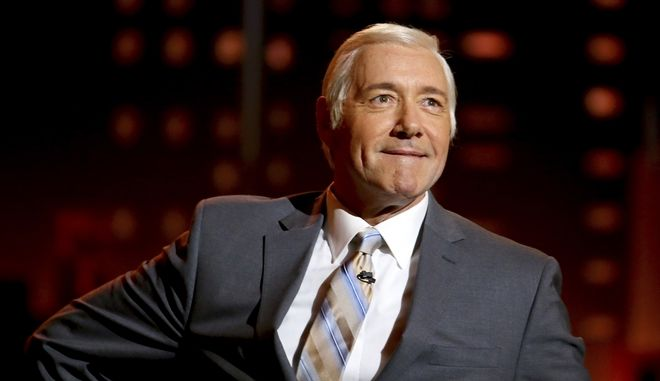 Kevin Spacey impersonates Johnny Carson at the 71st annual Tony Awards on Sunday, June 11, 2017, in New York. (Photo by Michael Zorn/Invision/AP)