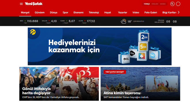 Τουρκικός Τύπος: Συντηρεί το κλίμα έντασης στο Αιγαίο