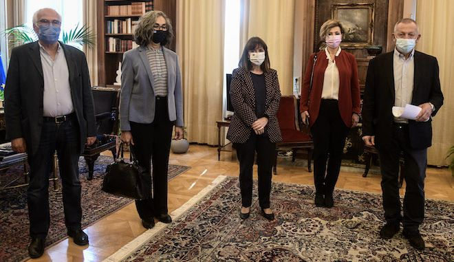 Συνάντηση της Προέδρου της Δημοκρατίας με αντιπροσωπεία βουλευτών του ΣΥΡΙΖΑ, του ΚΚΕ και του ΜέΡΑ25 καθώς και εκπρόσωπο του Συνδέσμου Φυλακισθέντων και Εξορισθέντων Αντιστασιακών (ΣΦΕΑ) για την απαγόρευση των συγκεντρώσεων την επέτειο του Πολυτεχνείου