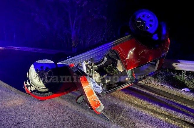 Λαμία: Ντεραπάρισε αυτοκίνητο στον δρόμο Λαμίας - Δομοκού - 2 τραυματίες