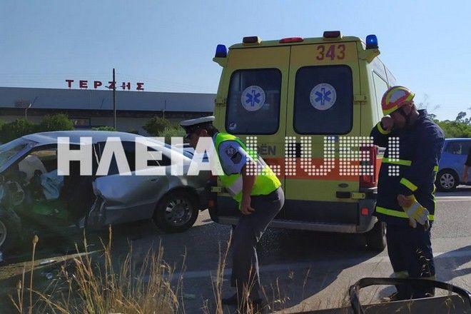 Τραγωδία στον Πύργο: Τροχαίο με μία νεκρή και τρεις τραυματίες
