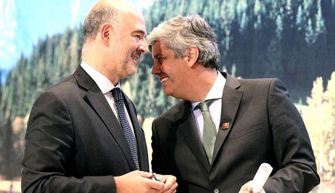 Σεντένο και Μοσκοβισί σε προηγούμενο Eurogroup