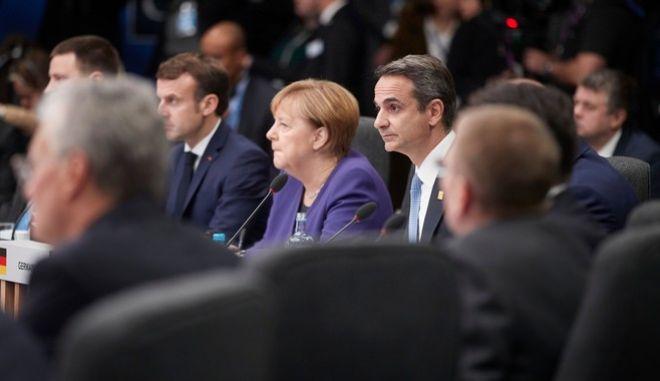 Ο Κυριάκος Μητσοτάκης στη Σύνοδο Κορυφής του ΝΑΤΟ στο Λονδίνο