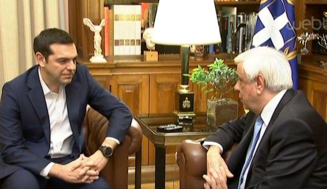 Τσίπρας σε Παυλόπουλο: Η χώρα στην εξωτερική πολιτική έχει συνέχεια που σεβόμαστε