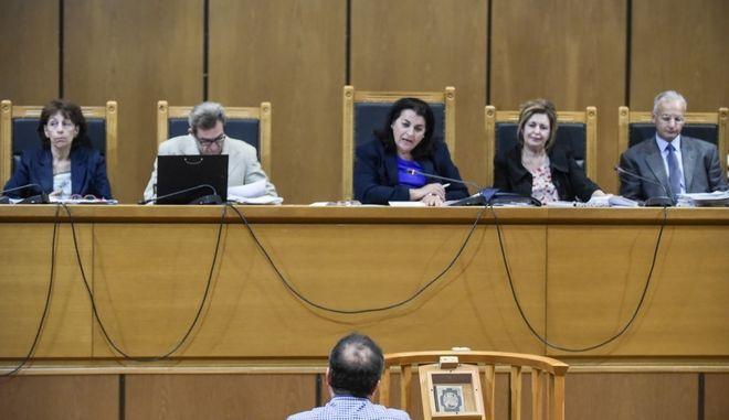 Επανέναρξη της δίκης της Χρυσής Αυγής σήμερα Τρίτη 5/9/2017,  με την εξέταση ως μαρτυρα του δημάρχου Κορίνθου Αλέξανδρου Πνευμαικού, παρουσία του πρώην βουλευτή της Χ.Α. Στάθη Μπούκουρα. (EUROKINISSI/ΤΑΤΙΑΝΑ ΜΠΟΛΑΡΗ)