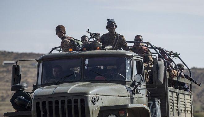 Μέλη του στρατού της Αιθιοπίας