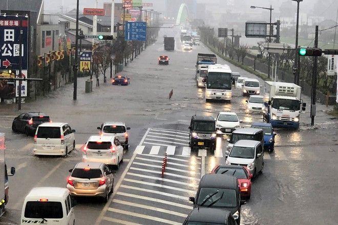 Πλημμύρα στην πόλη Ναρίτα της Ιαπωνίας