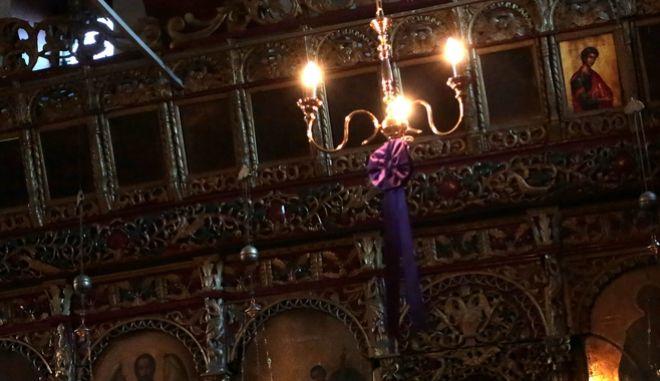Εσωτερικό εκκλησίας. Φωτο αρχείου.