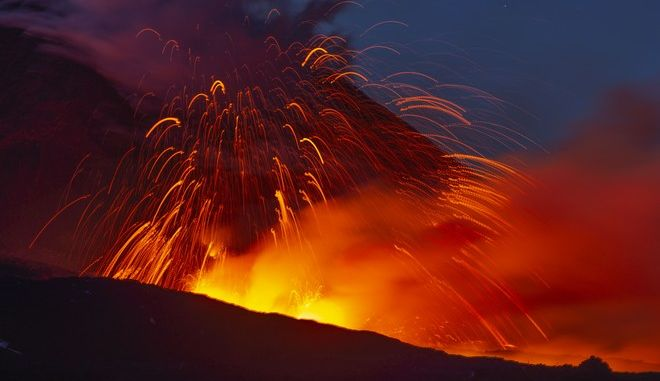Το ηφαίστειο της Αίτνα στην Σικελία