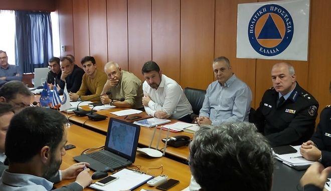 Συντονιστική σύσκεψη για την αντιμετώπιση κινδύνων από χιονοπτώσεις για την περίοδο 2019-2020