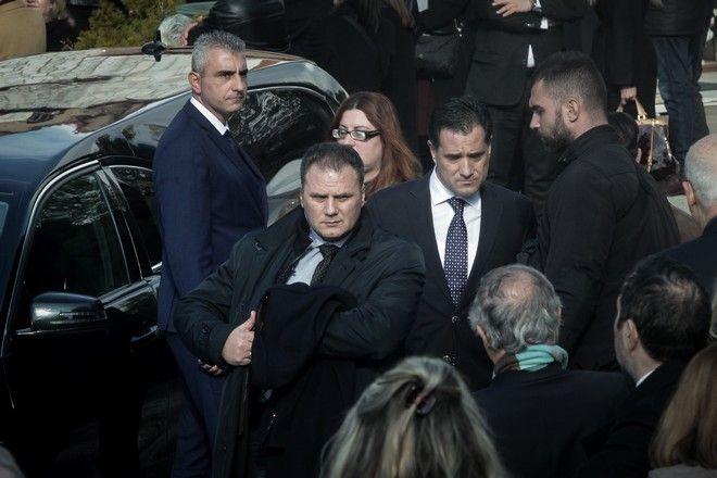 Ο Άδωνις Γεωργιάδης στην κηδεία του Θέμου Αναστασιάδη