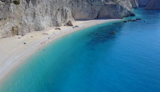 Η παραλία Πόρτο Κατσίκι στη Λευκάδα