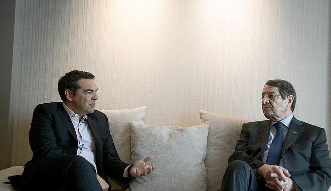 Συνάντηση του προέδρου του Σύριζα Αλέξη Τσίπρα με τον Πρόεδρο της Κύπρου Νίκου Αναστασιάδη την Τρίτη 14 Ιουλίου 2020 (EUROKINISSI / ΤΑΤΙΑΝΑ ΜΠΟΛΑΡΗ)