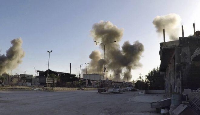 Συριακές επιδρομές στην Ντούμα της ανατολικής Γούτα