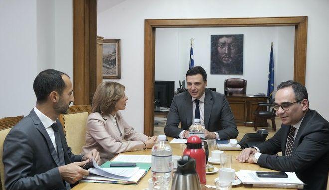 Από τη συνάντηση του  Υπουργού Υγείας Βασίλη Κικίλια με την Επίτροπο Υγείας και Ασφάλειας Τροφίμων της Ε.Ε. Στέλλα Κυριακίδου.