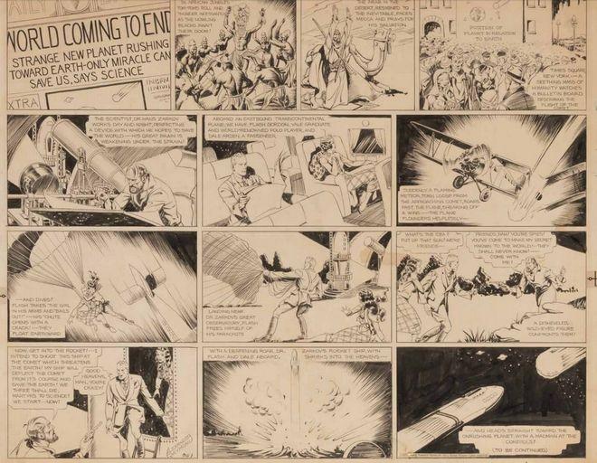 Σε δημοπρασία το πρωτότυπο σκίτσο του Φλας Γκόρντον