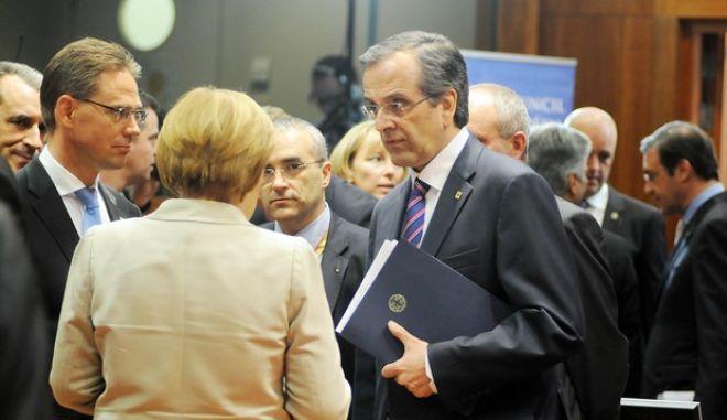 Ο πρωθυπουργός Αντ. Σαμαράς, στις εργασίες της Συνόδου Κορυφής της Ε.Ε. την Πέμπτη 27 Ιουνίου 2013 στις Βρυξέλλες. (EUROKINISSI/ΓΟΥΛΙΕΛΜΟΣ ΑΝΤΩΝΙΟΥ)