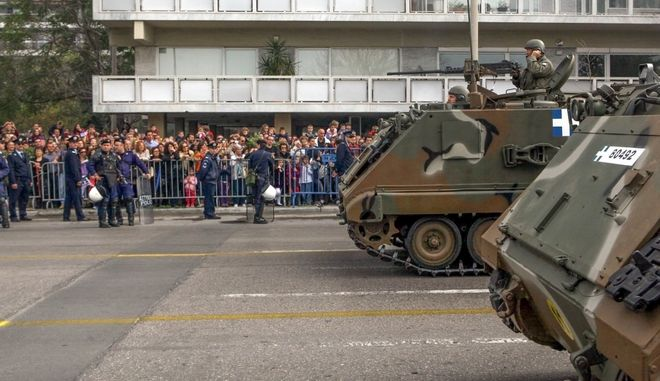 Στιγμιότυπο από τη στρατιωτική παρέλαση στη Θεσσαλονίκη