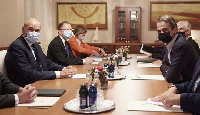 Από τη συνάντηση του πρωθυπουργού με τον Σλοβένο ομόλογό του