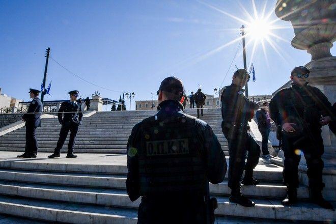 Μέτρα αστυνόμευσης στο κέντρο της Αθήνας για την στρατιωτική παρέλαση της 25ης Μαρτίου