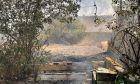 """Φωτιά στη Σταμάτα: Μήνυμα από το 112 - """"Παραμείνετε σε ετοιμότητα"""""""