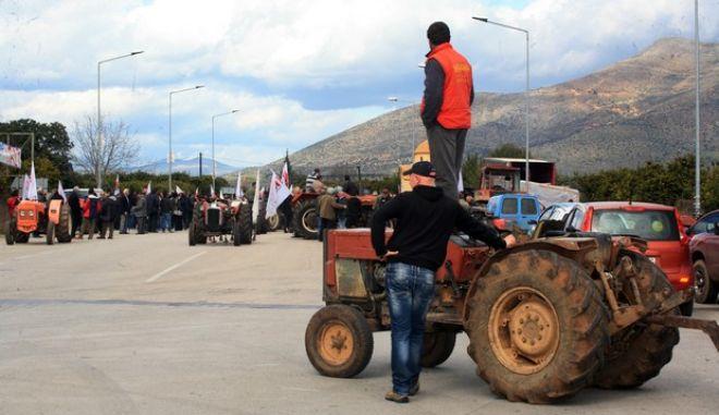 ΝΑΥΠΛΙΟ-Συλλαλητήριο  και αποκλεισμό  πραγματοποίησαν οι αγρότες της Αργολίδας  στη  Νέα  Εθνική  Ναυπλίου β Κορίνθου την  Κυριακή  10  Φεβρουαρίου 2013  το  μεσημέρι , στα  πλαίσια  των  κινητοποιήσεων  τους  ενάντια  στην  αντιλαϊκή  πολιτική  της  κυβέρνησης. Παρών ο βουλευτής του ΣΥΡΙΖΑ Δ. Κοδέλας,οι δημοτικοί σύμβουλοι Ναυσικά Μπαβελή και Γιάννης Γκιόλας. Στο συλλαλητήριο ήταν παρόντες, μεταφέροντας τους αγωνιστικούς τους χαιρετισμούς, εκπρόσωποι των αγροτών απο τα μπλόκα της Αρκαδίας και της Κορινθίας. (EUROKINISSI ΒΑΣΙΛΗΣ ΠΑΠΑΔΟΠΟΥΛΟΣ)