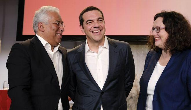 Ο Πρωθυπουργός, Αλέξης Τσίπρας, στο Βερολίνο, για τις εργασίες συνεδρίου του Σοσιαλδημοκρατικού κόμματος (SPD) της Γερμανίας,Σάββατο 10 Νοεμβρίου 2018