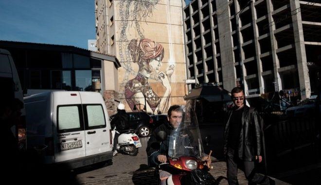 Ladadika district, Thessaloniki, Greece on November 11, 2017. / , , 11  2017.