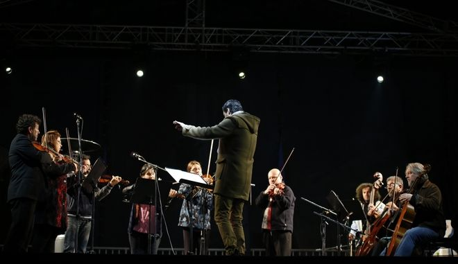 Στιγμιότυπο από την συναυλία της Καμεράτα - Ορχήστρα Φίλων Μουσικής, στο Πεδίον του Άρεως