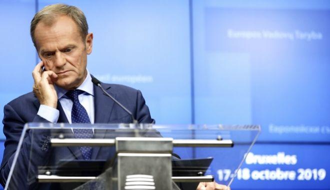 Ο πρόεδρος του Ευρωπαϊκού Συμβουλίου D. Tusk