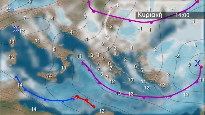 Ο καιρός στα Βαλκάνια την Κυριακή