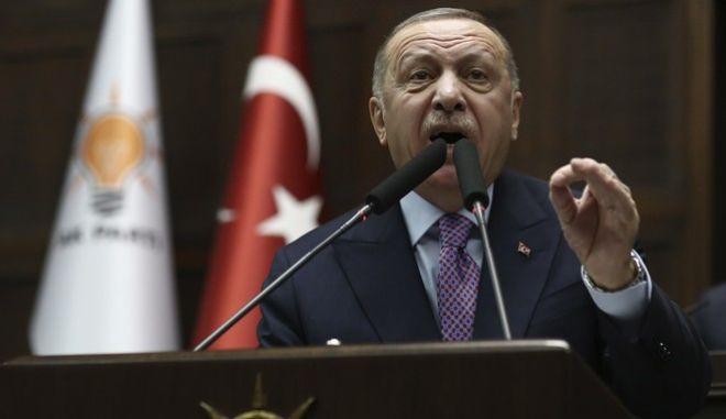 Ο Τούρκος Πρόεδρος ,  Ρετζέπ Ταγίπ Ερντογάν