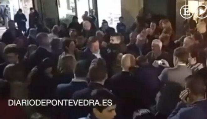 Βίντεο: Γρονθοκόπησαν τον Ραχόι στη διάρκεια ομιλίας του