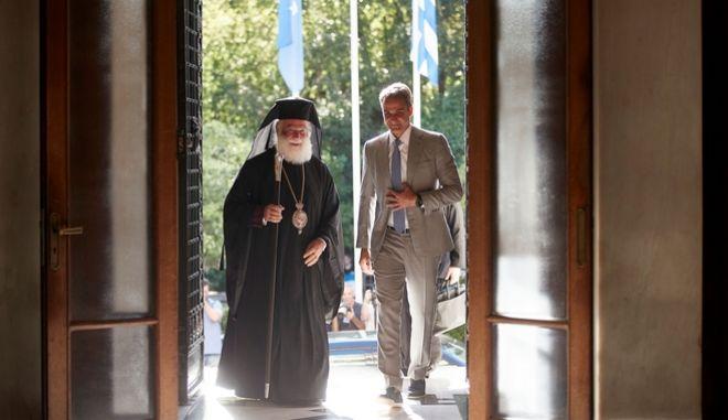 Ο πρωθυπουργός με τον Πατριάρχη Αλεξανδρείας