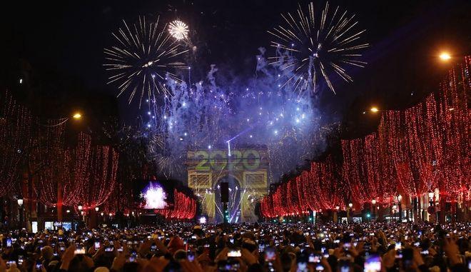 Εορτασμοί την Παραμονή Πρωτοχρονιάς στη Γαλλία