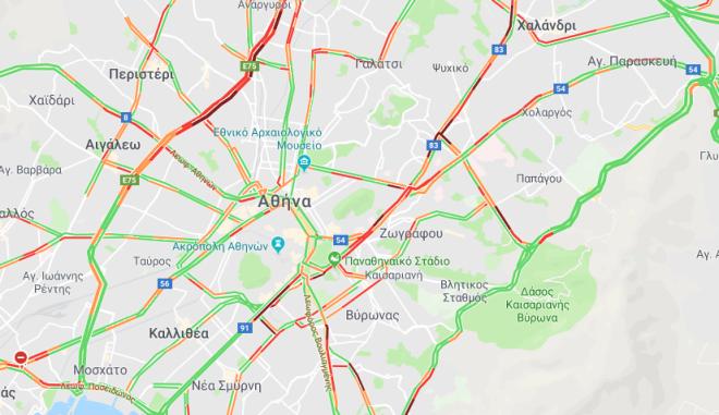 Ομαλά η κυκλοφορία στην Αθήνα