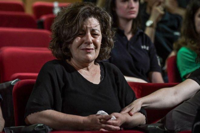 Απολογίες των κατηγορουμένων στην δίκη της Χρυσής Αυγή. Στην φωτό η μητέρα του Παυλου Φύσσα, Μάγδα Φύσσα.