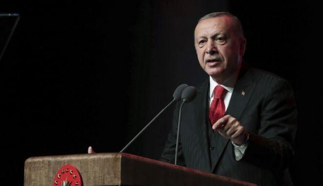 Ο τούρκος πρόεδρος. Φωτογραφία αρχείου.