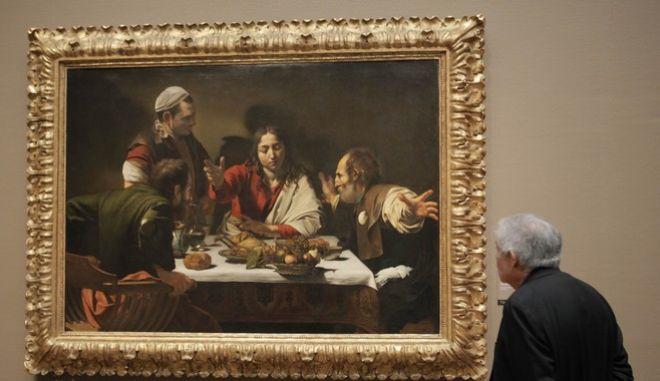 Το διάσημο έργο «Δείπνο στους Εμμαούς» του Καραβάτζο