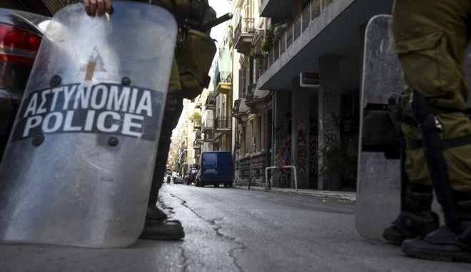 Επιχείρηση της Αστυνομίας για την εκκένωση της κατάληψης στην οδό Ζαϊμη στα Εξάρχεια την Δευτέρα 12 Μαρτίου 2018.  (EUROKINISSI)