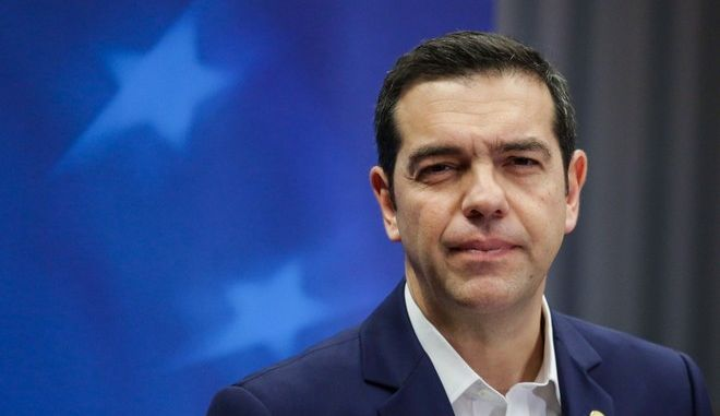 Alexis Tsipras Press Conference after the EU Summit in the European Council in Brussels, Belgium, on Dec. 15 2017./                , ,  15  2017