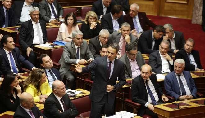 """ΑΘΗΝΑ-ΒΟΥΛΗ-Συζήτηση νομόσχεδιο """"Εξωδικαστικός Μηχανισμός Ρύθμισης Οφειλών"""".(Eurokinissi-ΚΟΝΤΑΡΙΝΗΣ ΓΙΩΡΓΟΣ)"""