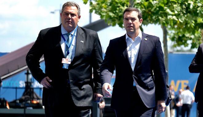 Ο πρωθυπουργός Αλέξης Τσίπρας και ο Υπουργός Άμυνας Πάνος Καμμένος