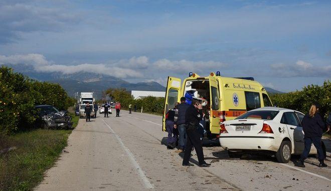Τροχαίο δυστύχημα (φωτογραφία αρχείου)