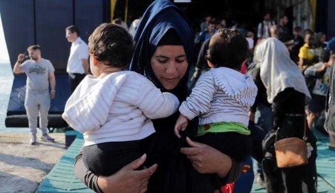 Άφιξη προσφύγων και μεταναστών. Φωτό αρχείου.