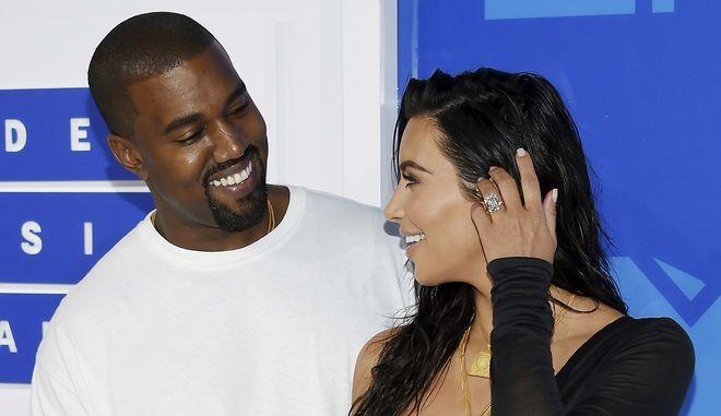 Kanye West, και Kim Kardashian West